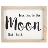 Love You To The Moon And Back Wood Wall Decor